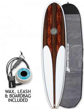 Hawaiian Soul Mini Mal surfboard package 7ft 0 - Walnut