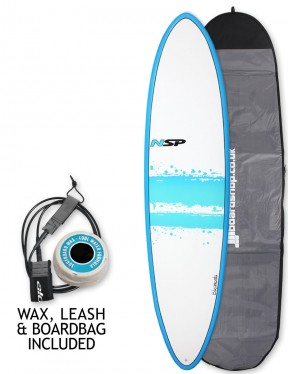 NSP Elements Funboard surfboard 7ft 6 package - Blue