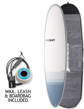NSP Elements Funboard surfboard 7ft 6 package - Tail Dip