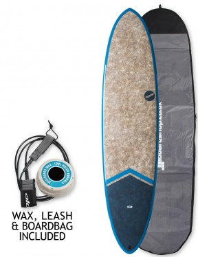 NSP Dreamrider Coco Funboard surfboard package 7ft 6 - Tail Dip Blue