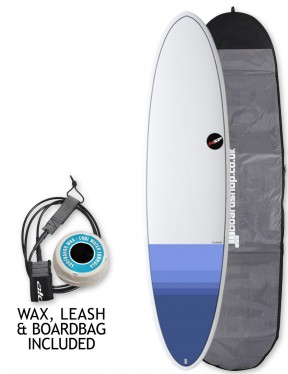 NSP Elements Funboard surfboard package 6ft 8 - Tail Dip Blue