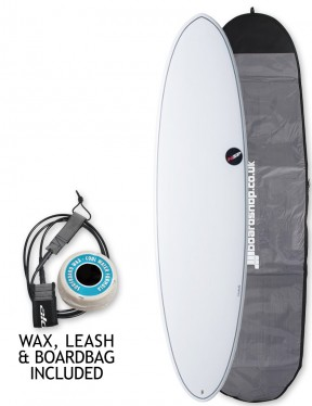 NSP Elements Funboard surfboard package 6ft 8 - White
