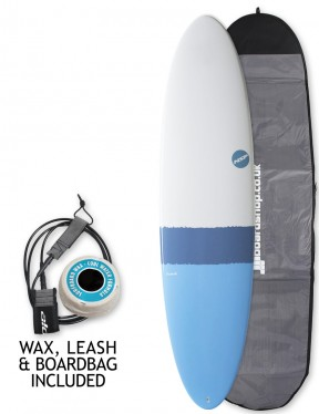 NSP Elements Funboard surfboard package 7ft 6 - Sky Blue