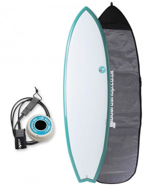 NSP Elements Fish surfboard package 6ft 0 - Aqua