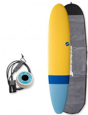 NSP Elements Longboard surfboard package 8ft 6 - Tail Dip Blue