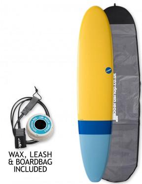 NSP Elements Longboard surfboard package 8ft 0 - Tail Dip Blue