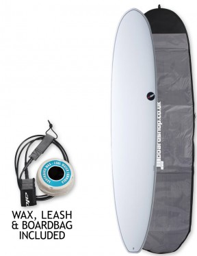 NSP Elements Longboard surfboard package 8ft 0 - White
