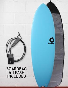 Torq Mod Fish Soft & Hard Surfboard Package 5ft 11 - Blue
