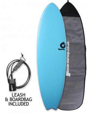 Torq Fish Soft & Hard surfboard package 6ft 6 - Blue