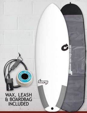Torq Tec Summer 5 surfboard package 6ft 0 - White