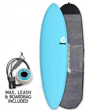 Torq Mod Fun surfboard package 6ft 8 - Blue/Pinline