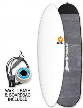 Torq Mod Fun Surfboard Package 6ft 8 - White