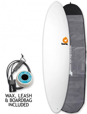 Torq Mod Fun Mini Mal Surfboard Package 7ft 2 - White
