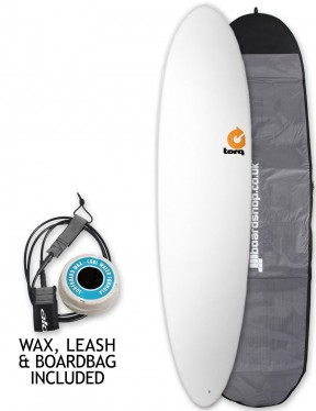 Torq Mod Fun Surfboard Package 7ft 6 - Matte White
