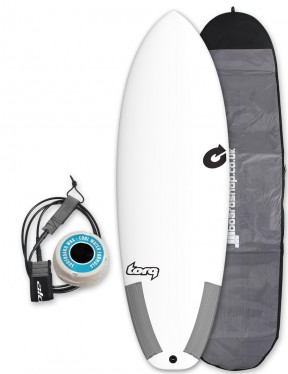 Torq Tec Summer 5 surfboard package 5ft 8 - White