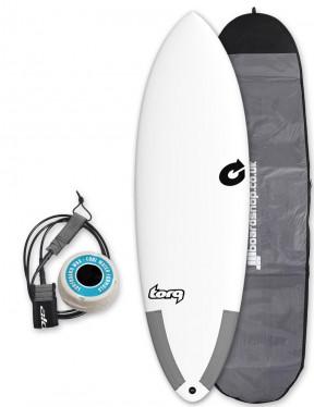 Torq Tec Hybrid surfboard package 5ft 8 - White