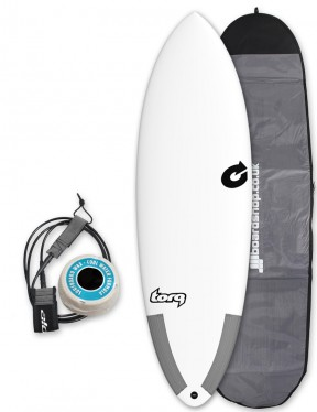 Torq Tec Hybrid surfboard package 6ft 0 - White