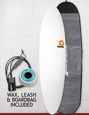 Torq Mod Fun Surfboard Package 7ft 2 - Matte White