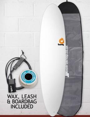 Torq Mod Fun Surfboard Package 7ft 6 - Matte White