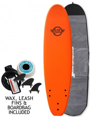 Surfworx Base Mini Mal soft surfboard package 7ft 0 - Orange