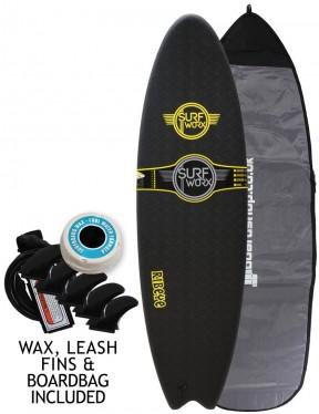 Surfworx Ribeye Hybrid soft surfboard package 5ft 10 - Black