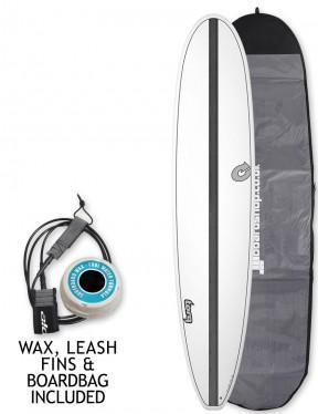 Torq Longboard surfboard 8ft 6 package - Carbon Strip