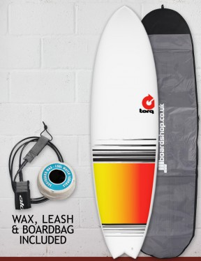 Torq Mod Fish surfboard package 6ft 6 - Colour Fade