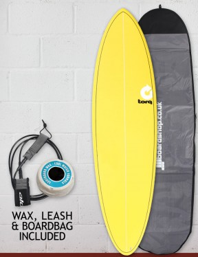 Torq Mod Fun Surfboard package 6ft 8 - Yellow
