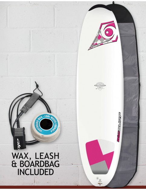 Bic DURA-TEC Wahine Egg surfboard 7ft Package - Pink
