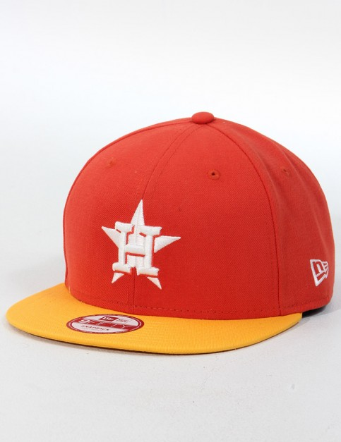 New Era Cotton Block 3 Houston Astros 9FIFTY Snapback cap - Glaze Red/Gold