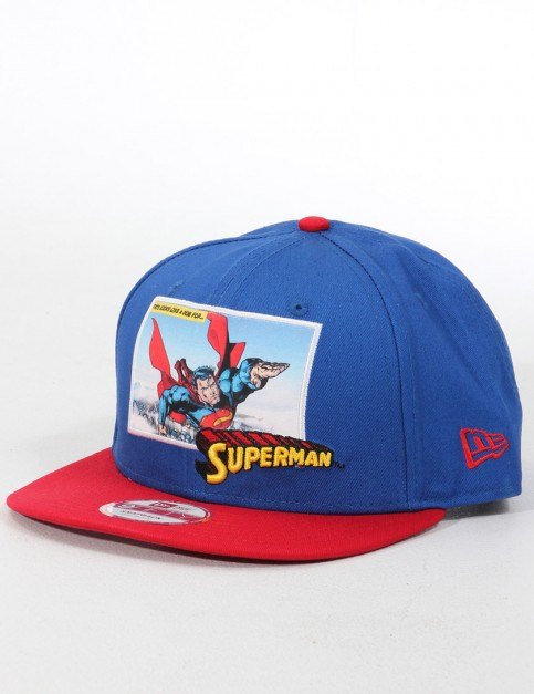 New Era Comic Panal 2 Superman 9FIFTY Snapback cap - Blue/Red