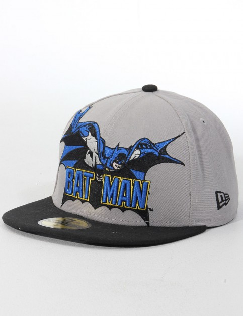 New Era Heroic Title Batman Official 59FIFTY Fitted cap - Grey/Black