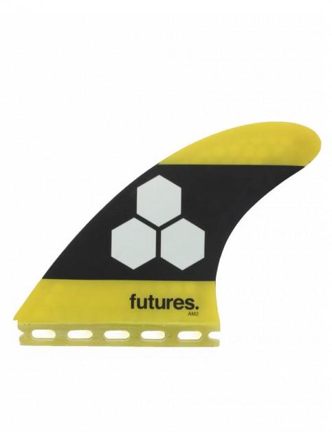 Futures AM2 Honeycomb Tri Fins Large - Yellow/Black