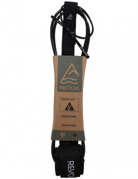 Revolwe Competition surfboard leash 5ft - Black
