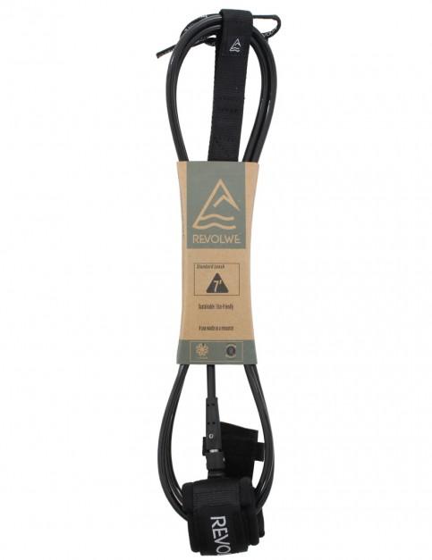 Revolwe Standard surfboard leash 7ft - Black