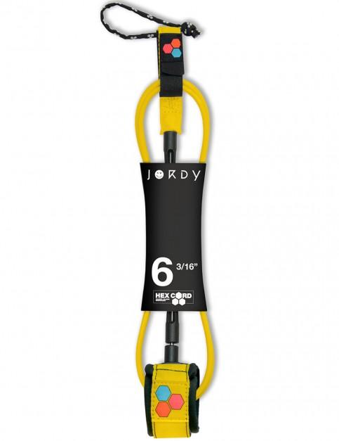 Channel Islands Jordy Hex Comp Surfboard leash 6ft - Fluro Yellow
