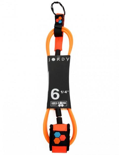 Channel Islands Jordy Standard Hex surfboard leash 6ft - Fluro Orange