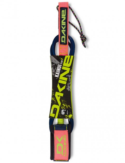 DaKine Kainui Team Surfboard Leash 6ft - Neon/Citron/Olive Green