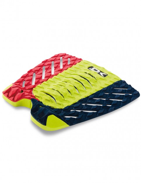 DaKine Superlite surfboard tail pad - Red/Citron/Navy