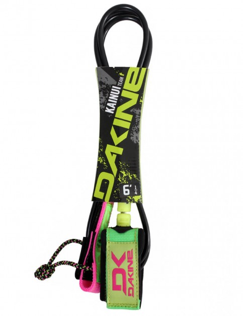 DaKine Kainui Team Surfboard Leash 6ft - Lime/Pink