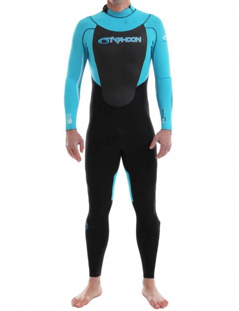 Typhoon Vortex Back Zip 3/2mm Wetsuit 2016 - Blue