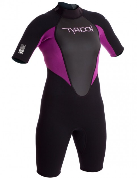 Typhoon Ladies Storm Shorty 3/2mm Wetsuit 2016 - Iris/Black