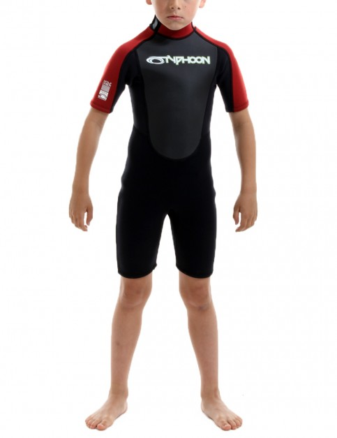 Typhoon Boys Storm Shorty 3/2mm Wetsuit 2016 - Red/Black
