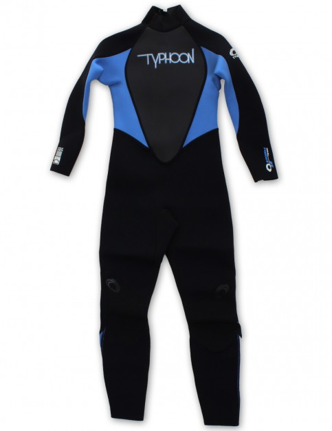 Typhoon Girls 3/2mm wetsuit 2016 - Black/Periwinkle