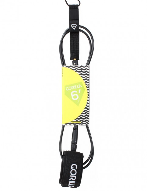 Gorilla Comp Classic surf leash 6ft - Black
