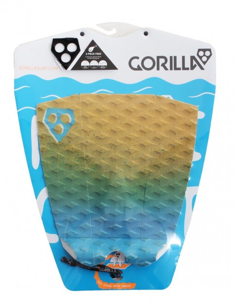 Gorilla 3 Piece Feed surfboard tail pad - Dawn