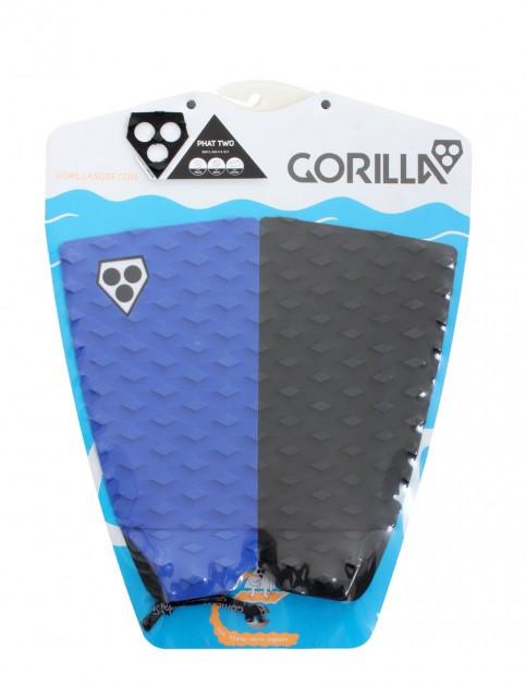 Gorilla Phat Two surfboard tail pad - Black/Blue