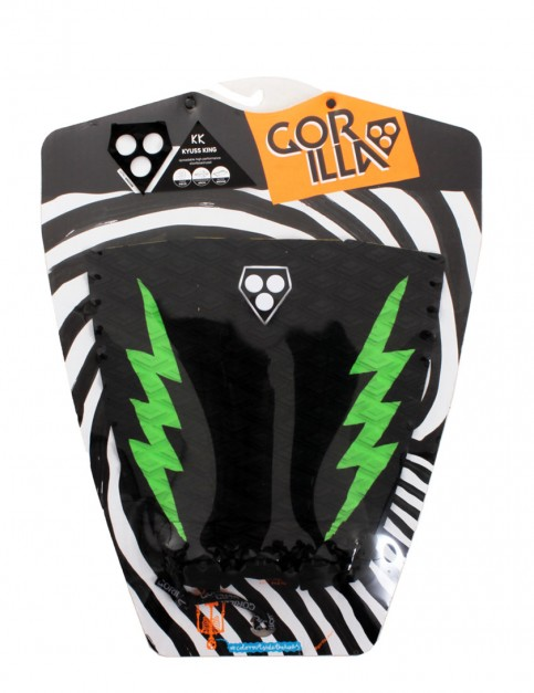 Gorilla Kyuss King Pop Pow surfboard tail pad - Black