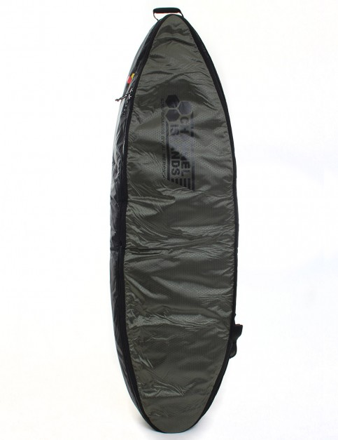 Channel Islands CX3 Travel Light Coffin Triple Surfboard bag 10mm 6ft 6 - Army Green