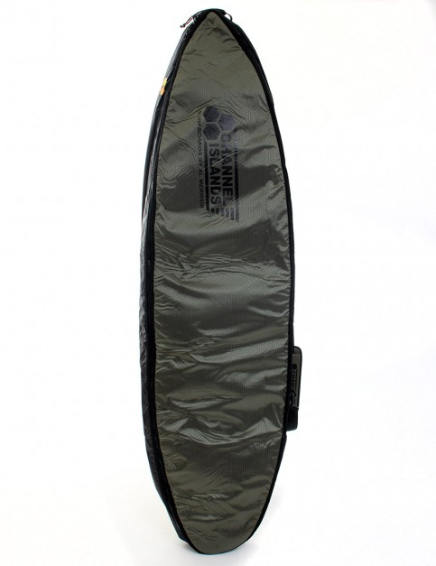 Channel Islands CX2 Travel Light Coffin Double surfboard bag 10mm 6ft 6 - Army Green